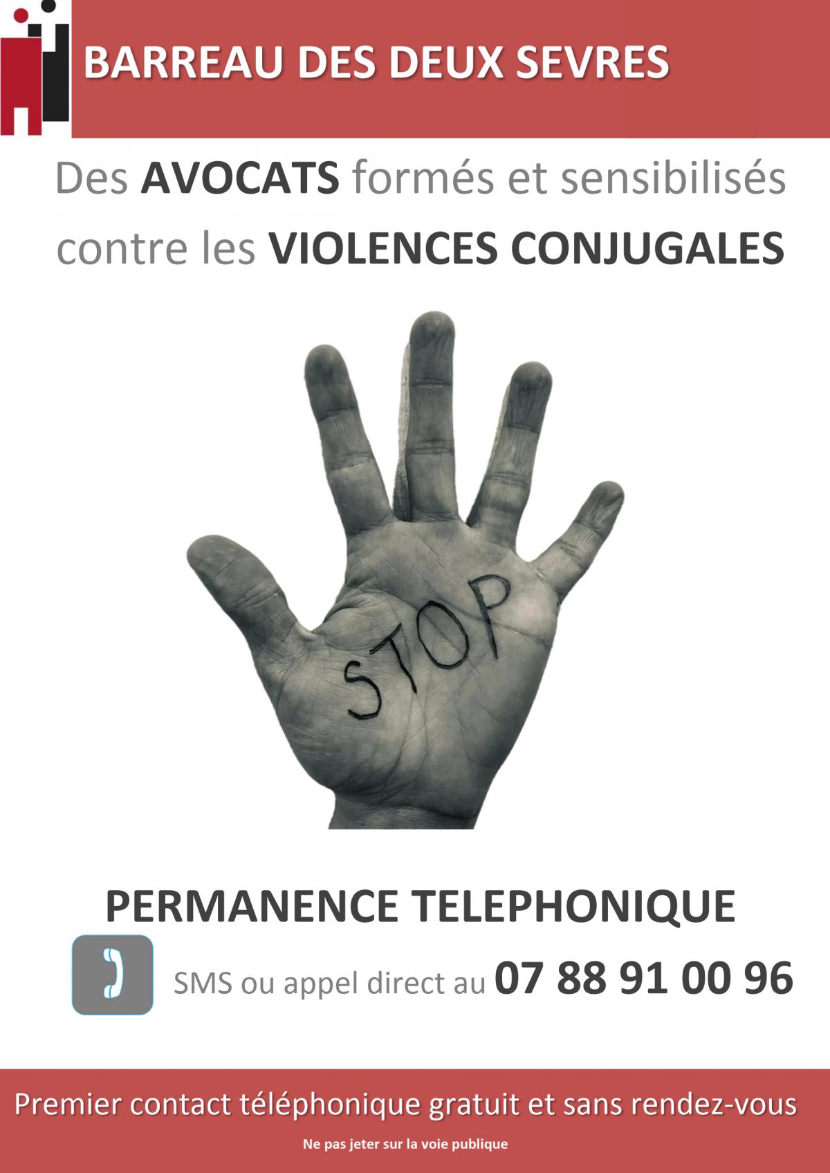 Affiche violences conjugales